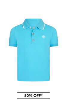 Timberland Blue Cotton Polo Shirt