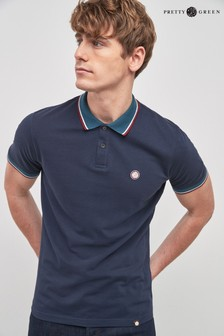 Pretty Green Tipped Poloshirt