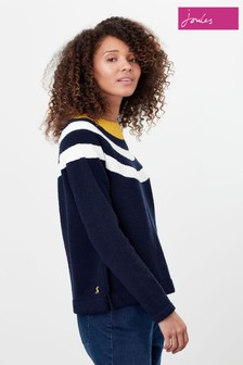 Joules Blue Seaport Knitted Chenille Raglan Jumper