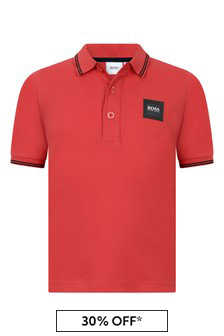 Boys Cotton Branded Polo Top