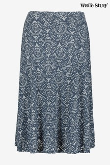 White Stuff Blue Chestern Burnout Skirt
