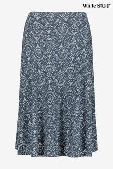 White Stuff Blue Chestern Burnout Skirt