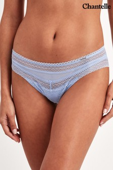 Chantelle Ice Blue Festivité Tanga Briefs