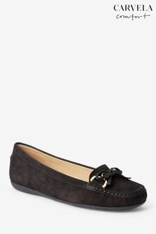 Carvela Comfort Black Cally Suede Loafer