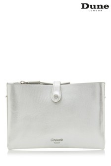 Dune Accessories Silver Unlined Cross Body Bag