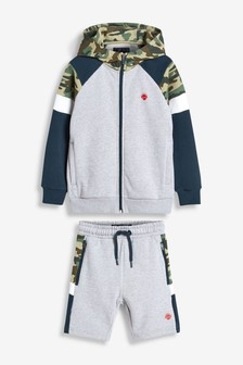 Hooded Zip Through Top and Short Set (3-16yrs)