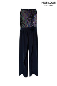Monsoon Navy Frankie Jumpsuit