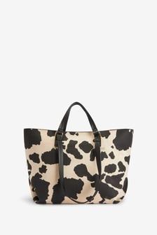 Cow Print Weekend Bag