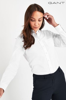 GANT White Perfect Oxford Shirt