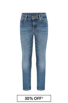Tommy Hilfiger Boys Blue Cotton Jeans