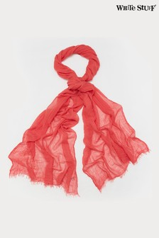 White Stuff Coral Recycled Skinny Dreaming Away Scarf