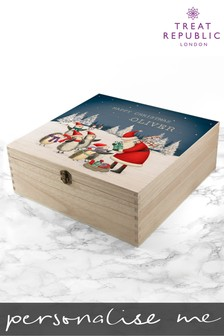 Personalised Traditional Christmas Scene Christmas Eve Box by Treat Republic