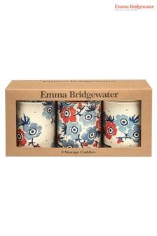 Set of 3 Emma Bridgewater Anemone Round Storage Jars