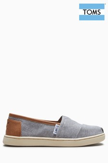 Toms Grey Chambray Alpargatas Slip-On Shoe