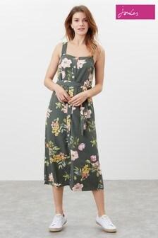 Joules Green Kimia Button Through Strappy Dress