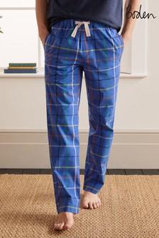 Boden Blue Cotton Poplin Pyjama Bottoms