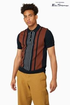 Ben Sherman Black Mod Stripe Short Sleeve Polo