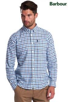 Barbour® Blue Linen Mix Tailored Shirt