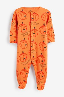 Halloween Pumpkin Sleepsuit (0-18mths)