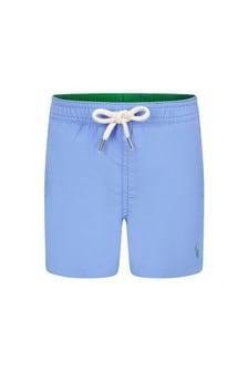 Ralph Lauren Kids Baby Boys Blue Swim Shorts