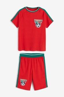 Portugal Football Short Pyjamas (3-16yrs)