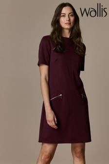 Wallis Red High Neck Ponte Shift Dress