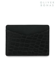 Oliver Bonas Black Cemery Croc Card Holder