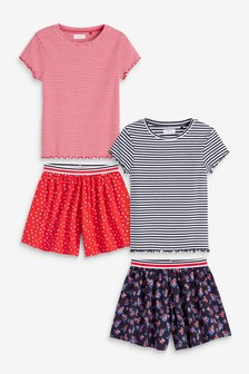 4 Pack T-Shirt And Shorts Set (3-16yrs)