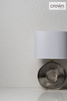 2012 Pure Whites Swirl Wallpaper by Crown