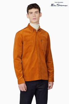 Ben Sherman Gold Cord Utility Shirt