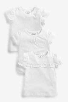 3 Pack Organic Cotton Short Sleeve T-Shirts (3mths-7yrs)