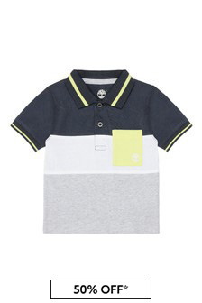 Timberland Baby Grey Cotton Polo Shirt