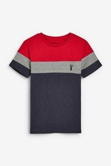 Textured Colourblock T-Shirt (3-16yrs)