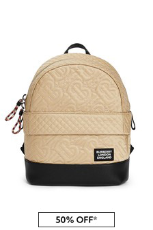 Burberry Kids Beige Backpack
