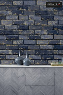 Arthouse Metallic Brick Wallpaper
