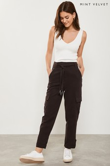 Mint Velvet Chocolate Utility Trouser