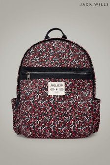Jack Wills Multi Floral Portbury Backpack