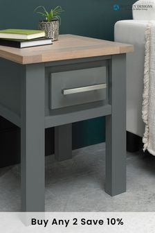 Oakham Lamp Table with Drawer by Bentley Designs
