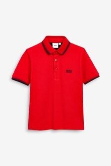 BOSS by Hugo Boss Red Short Sleeve Polo