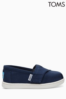 Toms Navy Canvas Velcro Alpargatas Slip-On Shoe