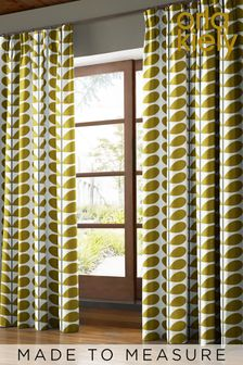 Two Colour Stem Olive Green Made To Measure Curtains by Orla Kiely