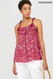 Monsoon Red Clara Printed Cami