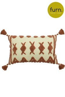 Furn Red Esme Tassel Cushion