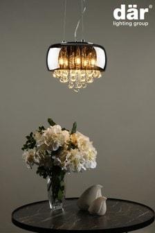 Dar Lighting Black Giselle 5 Light Pendant
