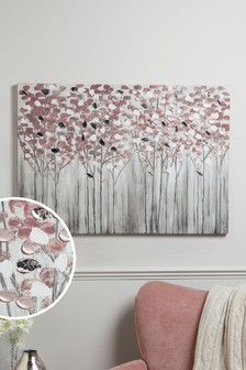 Birch Trees Large Canvas