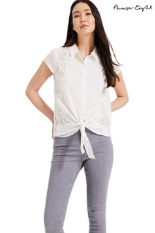 Phase Eight White Cordie Cutwork Blouse