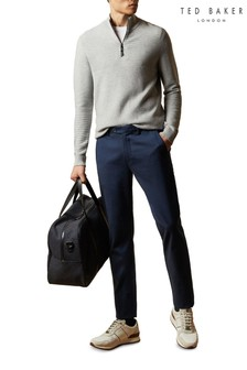 Ted Baker Blue Saba Slim Semi Plain Trousers