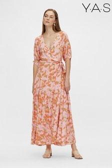 Y.A.S Sustainable Orange Floral Juna Dress