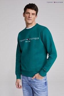 Tommy Hilfiger Green Tommy Logo Sweatshirt
