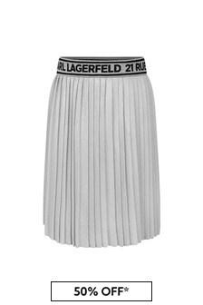 Karl Lagerfeld Girls Grey Skirt